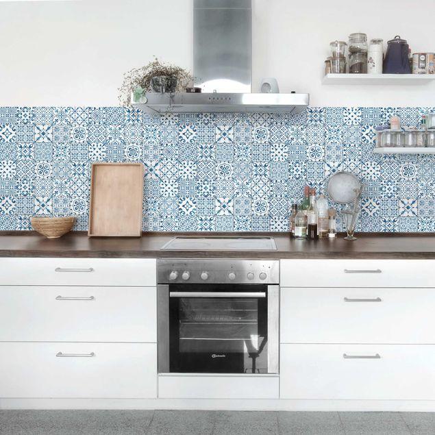 Produktfoto Klebefolie - Musterfliesen Blau Weiß