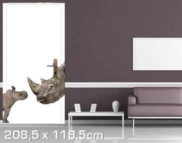 Product picture Door Wall Mural Mother And Baby...