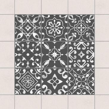 Immagine del prodotto Adesivo per piastrelle - Pattern Dark Gray White Series - Mix 15cm x 15cm