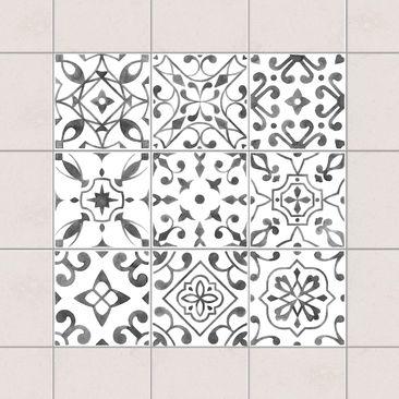 Immagine del prodotto Adesivo per piastrelle - Pattern Gray White Set - Mix 20cm x 20cm