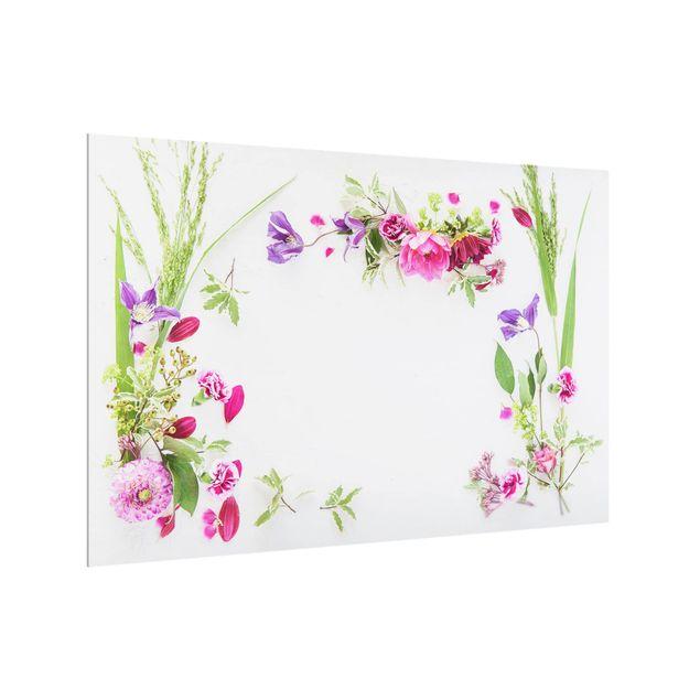 Produktfoto Spritzschutz Glas - Blumenarrangement - Querformat 2:3