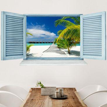 Produktfoto 3D Wandtattoo - Malediven