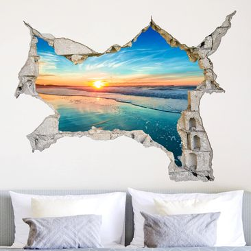 Produktfoto 3D Wandtattoo - Sonnenaufgang Meer