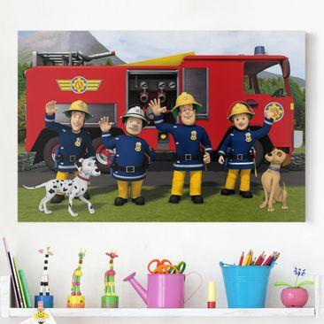 Produktfoto Leinwandbild - Feuerwehrmann Sam - Freunde - Querformat 2:3
