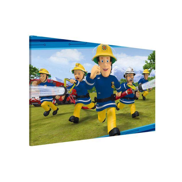 Produktfoto Magnettafel - Feuerwehrmann Sam - Feueralarm - Memoboard Querformat 2:3