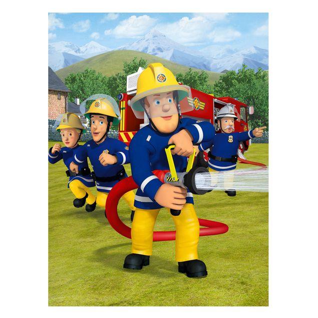Produktfoto Magnettafel - Feuerwehrmann Sam - Alarm - Memoboard Hochformat 4:3