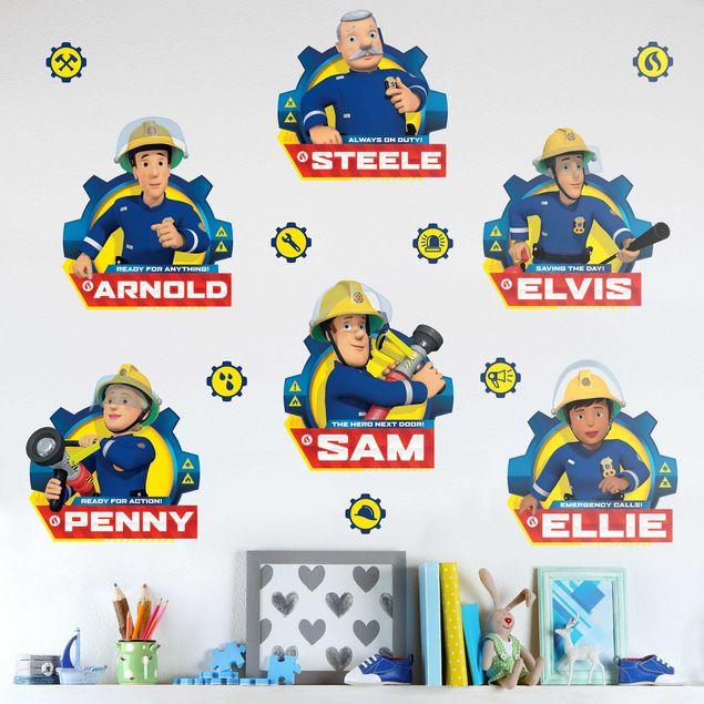 Produktfoto Wandtattoo - Feuerwehrmann Sam - Team