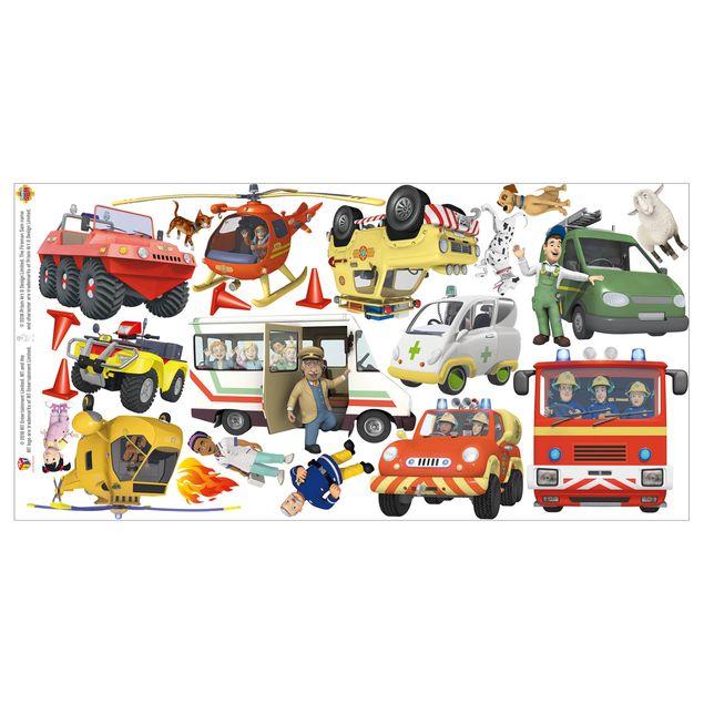 Produktfoto Wandtattoo - Feuerwehrmann Sam - Mega Set 22-teilig
