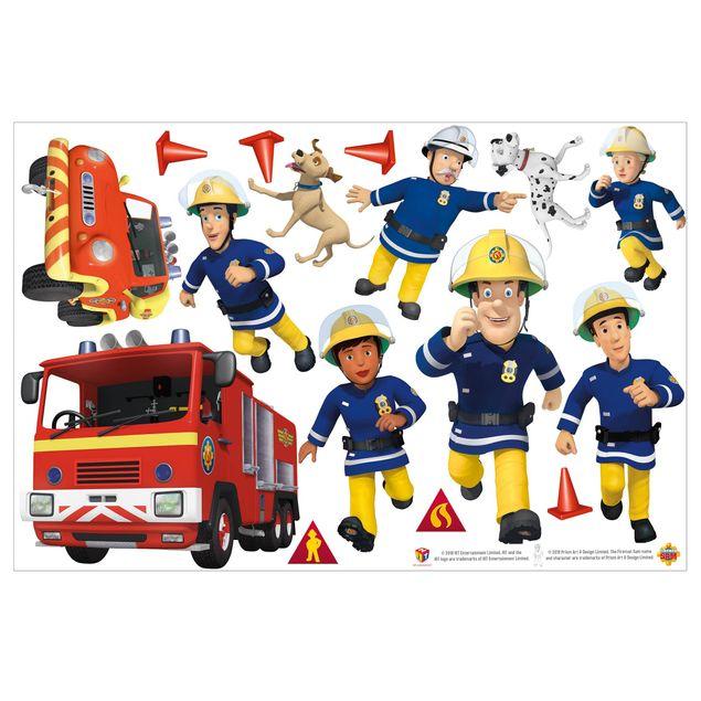 Produktfoto Wandtattoo - Feuerwehrmann Sam - Helden