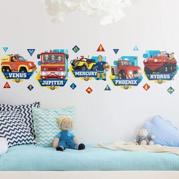 Produktfoto Wandtattoo - Feuerwehrmann Sam - Fahrzeuge