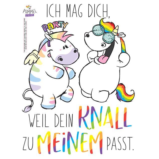 Produktfoto Wandtattoo - Pummeleinhorn - Zebrasus Party