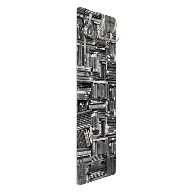 Produktfoto Garderobe - Shabby Bücherwand schwarz weiß