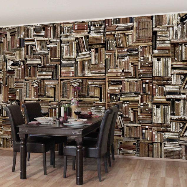 Produktfoto Tapete selbstklebend - Shabby Bücherwand - Wandbild Querformat