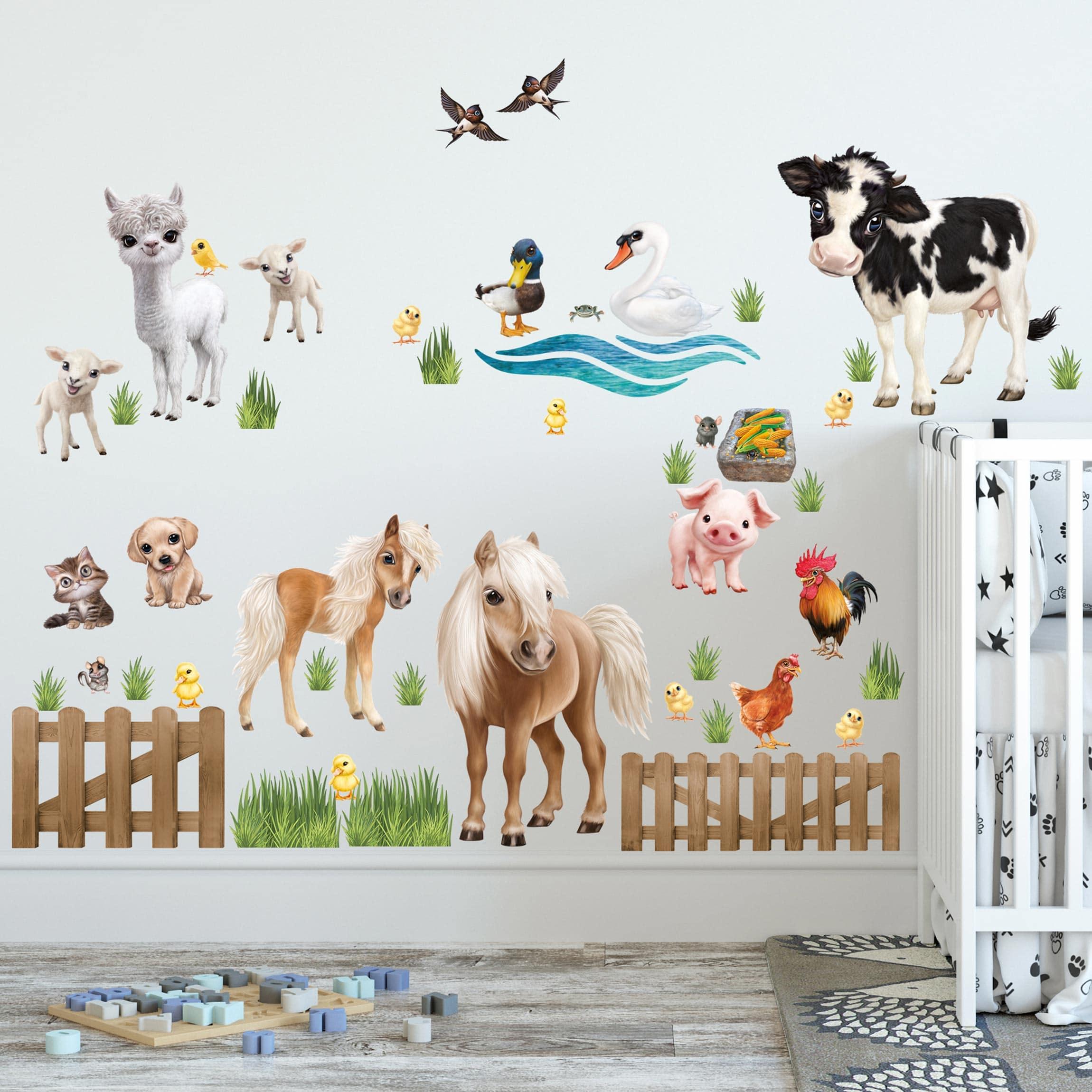 Wandtattoo Kinderzimmer Animal Club International Tiere Auf