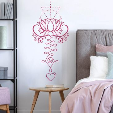 Produktfoto Wandtattoo - Lotus Unalome mit Herz