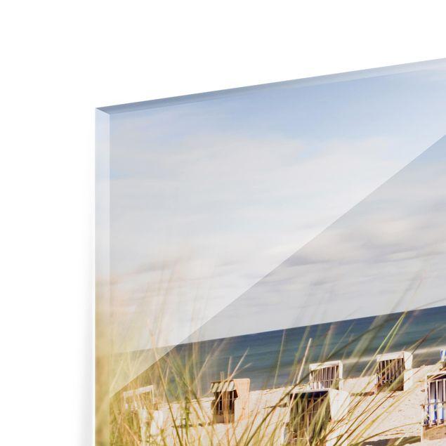 Produktfoto Spritzschutz Glas - Ostsee und Strandkörbe - Querformat 2:3