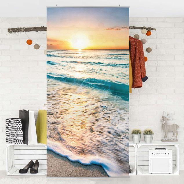 Produktfoto Raumteiler - Sonnenuntergang am Strand - 250x120cm