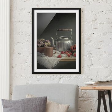 Immagine del prodotto Poster con cornice - Still Life With Strawberries - Verticale 4:3