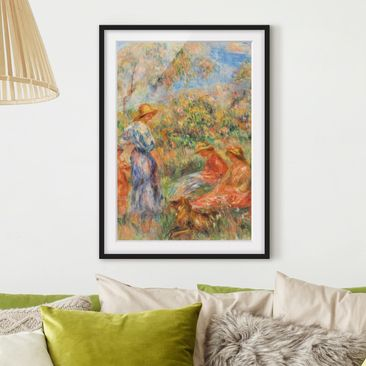 Immagine del prodotto Poster con cornice - Auguste Renoir - Three Women And Child In A Landscape - Verticale 4:3