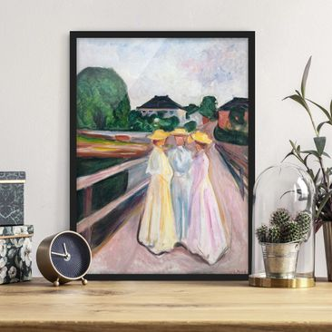 Immagine del prodotto Poster con cornice - Edvard Munch - Three Girls On The Bridge - Verticale 4:3