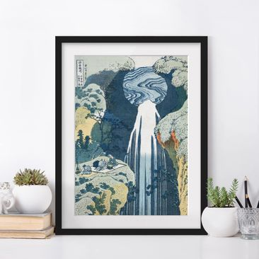 Immagine del prodotto Poster con cornice - Katsushika Hokusai - The Waterfall Of Amida Behind The Kiso Road - Verticale 4:3