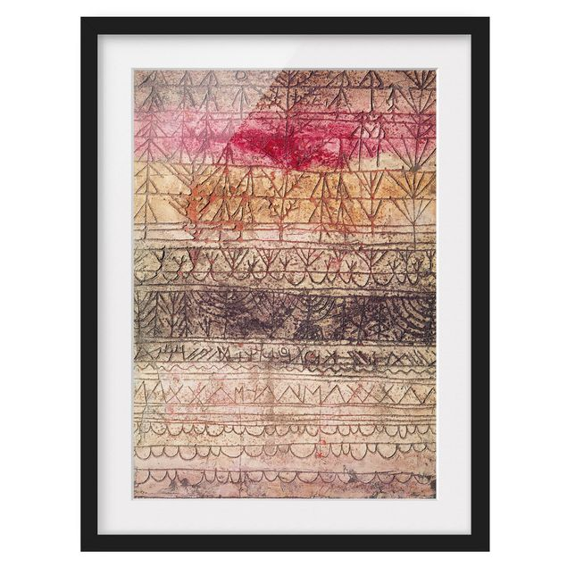 Immagine del prodotto Poster con cornice - Paul Klee - Young Forest Table - Verticale 4:3