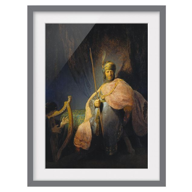 Immagine del prodotto Poster con cornice - Rembrandt Van Rijn - David Playing The Harp To Saul - Verticale 4:3