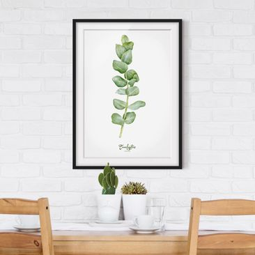 Product picture Framed print - Watercolor Botany...