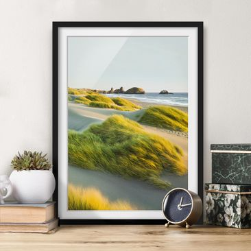 Immagine del prodotto Poster con cornice - Dunes And Grasses At The Sea - Verticale 4:3