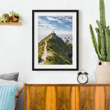 Immagine del prodotto Poster con cornice - Nugget Point Lighthouse And Sea Zealand - Verticale 4:3