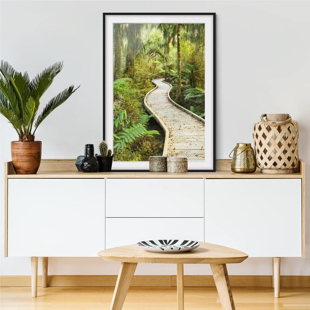 Immagine del prodotto Poster con cornice - Path In The Jungle - Verticale 4:3