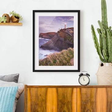 Immagine del prodotto Poster con cornice - Cliffs And Lighthouse - Verticale 4:3
