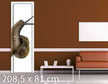 Product picture Door Wall Mural Curious Snail