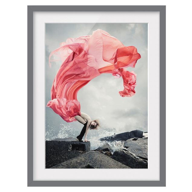 Immagine del prodotto Poster con cornice - Woman At The Sea - Verticale 4:3