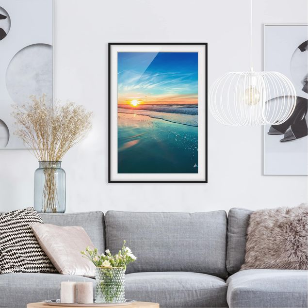 Immagine del prodotto Poster con cornice - Romantic Sunset By The Sea - Verticale 4:3
