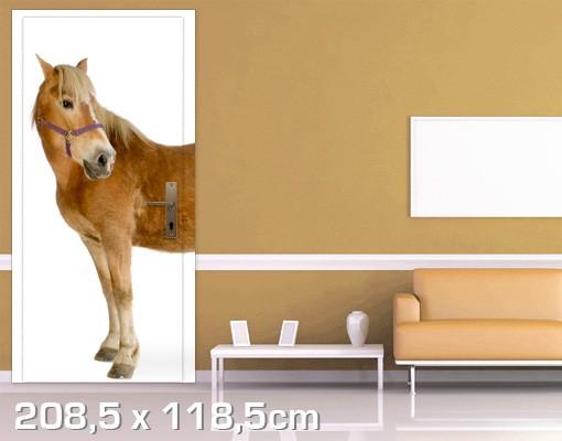 Produktfoto Kinderzimmer Türtapete selbstklebend - Haflinger