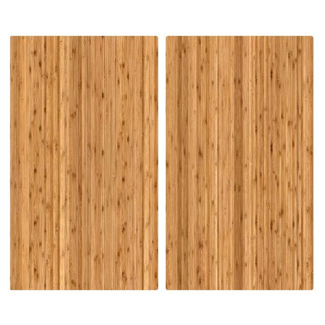 Produktfoto Herdabdeckplatte Glas - Bambus - 52x60cm, Frontalansicht, Artikelnummer 227716-FF