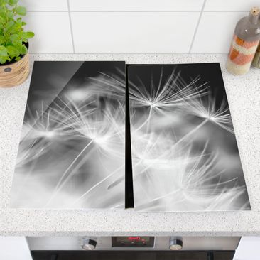 Product picture Glass hob cover - Moving Dandelions...