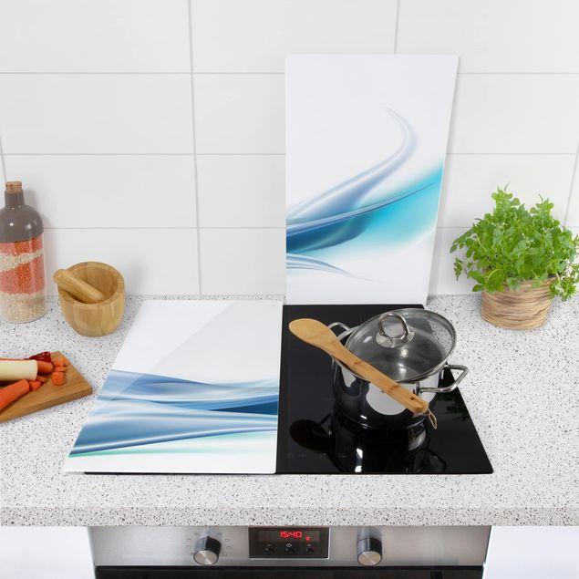 Produktfoto Herdabdeckplatte Glas - Blue Dust - 52x60cm, in Wohnambiente, Artikelnummer 227720-WA
