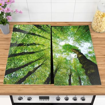 Product picture Glass hob cover - Trees Of Life -...