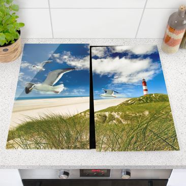 Product picture Glass hob cover - Dune Breeze - 52x60cm