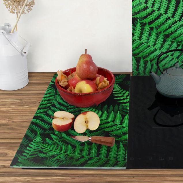 Produktfoto Herdabdeckplatte Glas - Farn - 52x60cm, Anwendungsbeispiel, Artikelnummer 227735-XWAF
