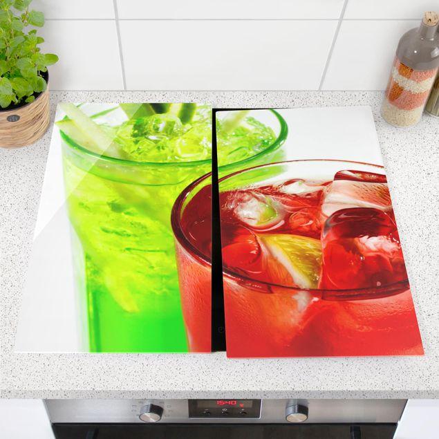 Produktfoto Herdabdeckplatte Glas - Fresh Cocktails - 52x60cm, vergrößerte Ansicht in Wohnambiente, Artikelnummer 227739-XWA