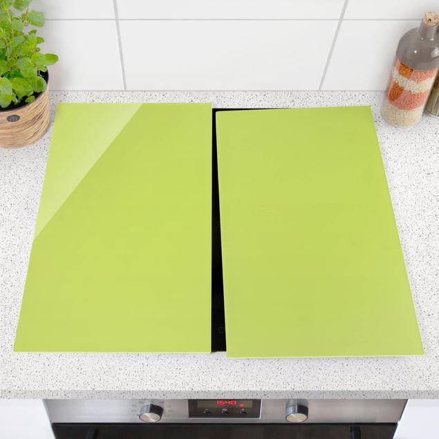 Produktfoto Herdabdeckplatte Glas - Frühlingsgrün - 52x60cm, vergrößerte Ansicht in Wohnambiente, Artikelnummer 227743-XWA