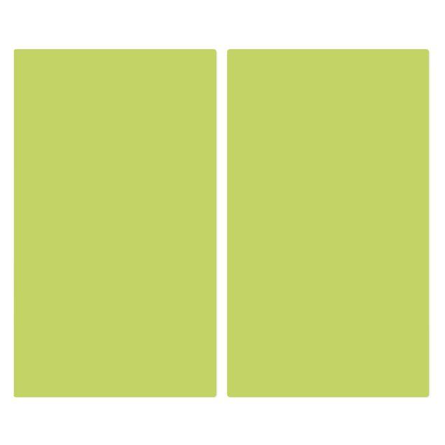Produktfoto Herdabdeckplatte Glas - Frühlingsgrün - 52x60cm, Frontalansicht, Artikelnummer 227743-FF