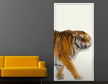 Immagine del prodotto Carta da parati adesiva per porte - Warning Tiger!