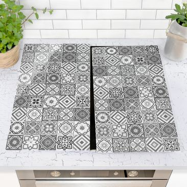 Product picture Glass hob cover - Mediterranean Tile...