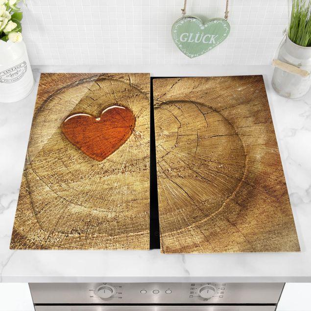 Produktfoto Herdabdeckplatte Glas - Natural Love - 52x60cm, vergrößerte Ansicht in Wohnambiente, Artikelnummer 227779-XWA