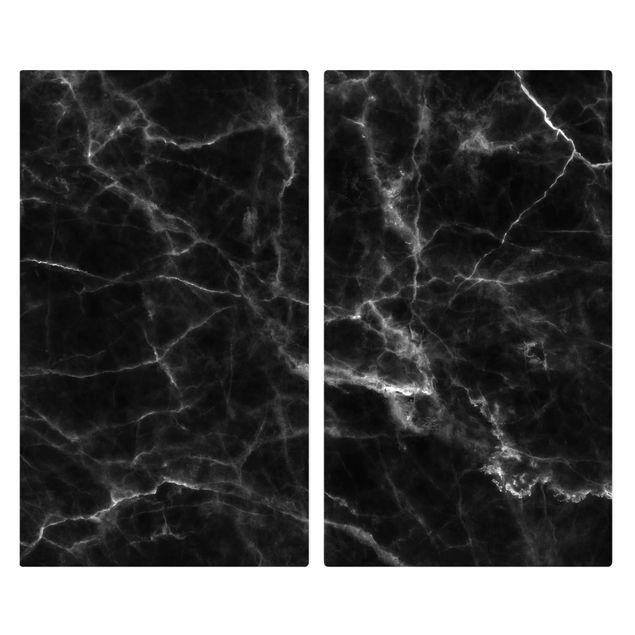 Immagine del prodotto Coprifornelli in vetro - Nero Carrara - 52x60cm