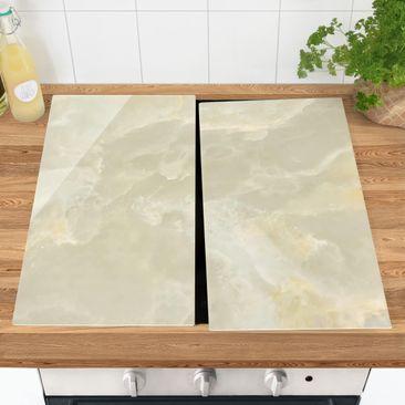 Immagine del prodotto Coprifornelli in vetro - Onyx Marble Cream - 52x60cm